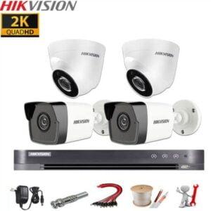Trọn bộ 4 Camera Hikvision 5MP Chính Hãng Cao Cấp